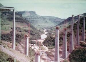 Muçum Construção do Viaduto 13 1970