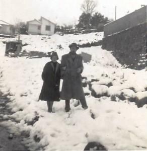 Nova Prata Neve no muro do Colégio Aparecida 1965