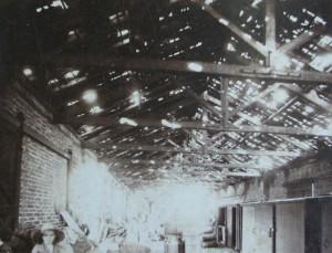 Novo Hamburgo galpão Estrada de Ferro destruído por chuva de pedra 11-06-1908