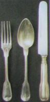Talheres Prata Restaurante Palácio do Comércio 1940