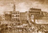 Itália Piazza San Pietro segunda metade séc XVI