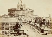 Itália Roma, Castelo Sant'Angelo (ou Mausoléu de Adriano) 1860