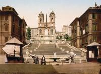 Itália Spanish Steps, Piazza di Spagna, Rome, Italy Via di San Sebastianello, 19, 00187 Rome, Italy 1895