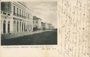 Pelotas Postal da rua Marechal Floriano