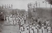 Porto Alegre 3º batalhão de infantaria em marcha de treinamento estrada de Belém 1910