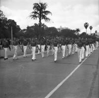 Porto Alegre Alunos do Colégio Rosário Desfile da Mocidade(acervo Museu Hipólito J da Costa) déc1950