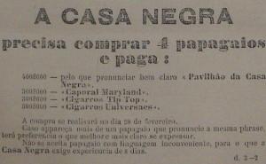 Propaganda A Casa Negra 1901