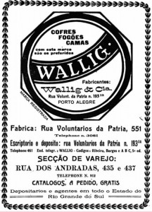 Propaganda Almanaque de Porto Alegre Wallig 1920