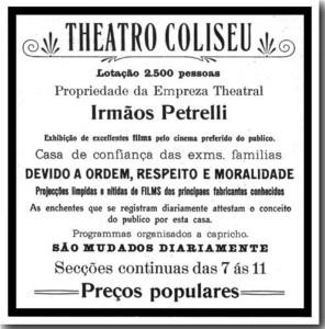 Propaganda Anúncio do Coliseu 1913(acervo Ronaldo Fotografia)