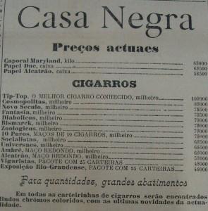 Propaganda Casa Negra 1901