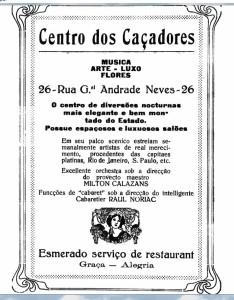 Propaganda Centro dos Caçadores