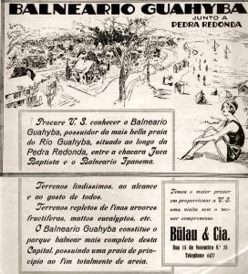 Propaganda Revista do Globo O Balneario Guahyba 1932
