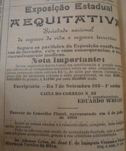 Propaganda Seguradora 1901