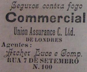 Propaganda Seguros contra fogo 1901