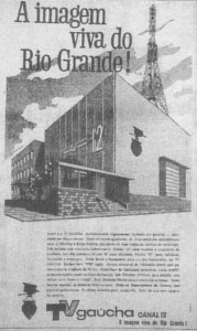 Propaganda TV Gaúcha anúncio 1962