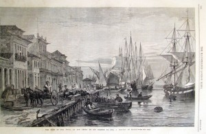 Rio Grande Cais da Rua Boa Vista(Illustrated London News 1865)(Gravura Francis Richard 1860