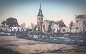 Rio Grande Postal Vista da Igreja do Salvador a partir da Praça Tamandaré