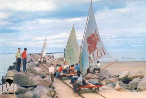 Rio Grande Vagonetas nos Molhes da Barra 1975