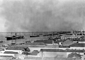 Rio Grande Vista aérea do porto velho