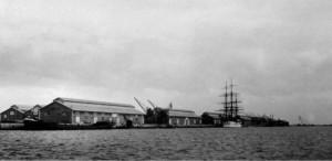 Rio Grande cais do porto novo Navio Escola 1915