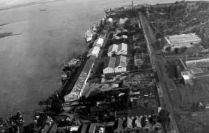 Rio Grande porto novo vista aérea déc1950