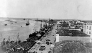 Rio Grande porto velho e armazéns 1918
