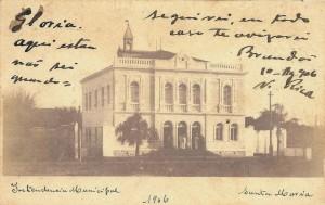 Santa Maria Postal Intendência Municipal 1906