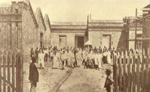 Uruguaiana Saída da fábrica Cia de fiação e tecidos progresso da fronteira(acervo UFRGS) 1916
