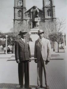 Uruguaiana Silvério Peres Costa e Xisto peres Costa Catedral Monumento do Barão do Rio Branco 1949