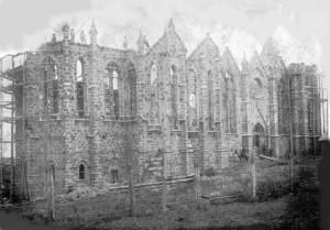 Vacaria Construção Catedral Nossa Senhora da Oliveira(acervo Cristina Paim de Lima) 1919