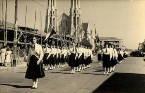 Venâncio Aires, desfile cívico(acervo Jonas CL) de 1960