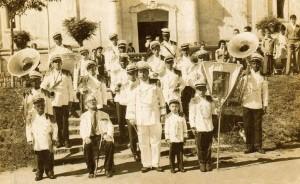 Viamão A Banda Setembrina animava as festividades déc1950