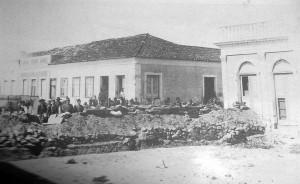 Bagé Revolução Federalista Trincheira Praça da Matriz(acervo Museu Dom Diogo de Souza) 28-02-1893
