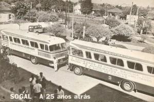 Canoas Praça da Emancipação(Prefeitura) Desfile inaugural Sociedade de Ônibus Gaúcha LTDA(SOGAL) 1967