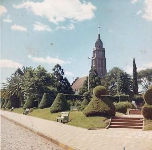 Carazinho Praça Albino Hillebrant Igreja 1970