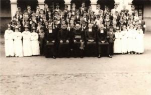 Carazinho Primeira Comunhão alunos do Colégio La Salle(acervo Juarez Castilhos) 1955