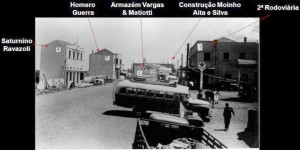 Carazinho Rodoviária Esq Av Flores da Cunha com Presidente Vargas(acervo Família Álvaro R Vargas) 1948