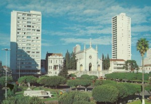 Caxias do Sul Postal Praça Dante Alighieri déc1970