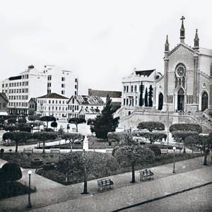 Caxias do Sul Praça Rui Barbosa 1950(acervo Ronaldo Fotografia)