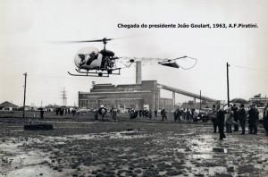 Charqueadas Visita Presidente João Goulart Aços Finos Piratini (hoje Gerdau) 1963