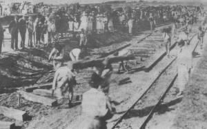 Dom Pedrito chegada da 1ª locomotiva 1922