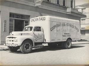 Encantado Caminhão Ford da Cooperativa de Suinocultores