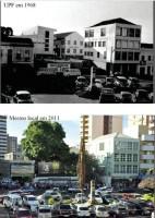 Passo Fundo Largo Prefeitura 1968 e 2011