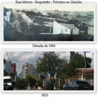 Passo Fundo Rua Moron no bairro Boqueirão déc1930 e 2012