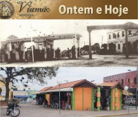 Viamão Antigo Largo Adonis dos Santos déc1940 Atual(foto Paulo Lilja)