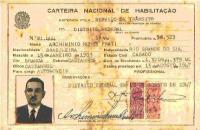 Carteira Habilitação Archiminio Nunes Prati