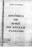 História de Bagé do Século Passado 1