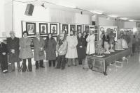 Edmondo Prati Inaugurazione Mostra di Edmondo Prati Pergine 12-1984