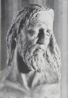 Edmondo Prati Creta Testa di Cristo Pergine Collezione privata