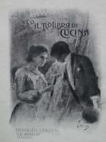 Eugenio Prati Ecco il tuo libro di cucina litografia della copertina Ecco il libro di Cucina di Giulia Turco